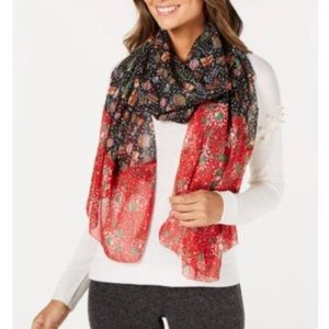 Cejon chiffon Christmas holiday wrap scarf